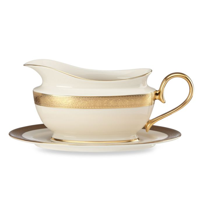 Lenox Westchester Sauce Boat with Stand