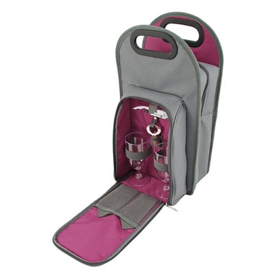 True Fabrications Grey Metropolitan 2-Bottle Tote