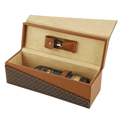 True Fabrications Madison Avenue Wine Bottle Box