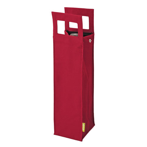 True Fabrications 1-Bottle Red Insulated Tote