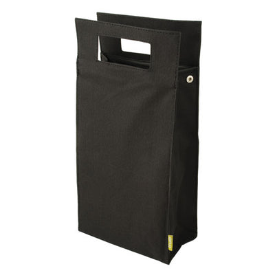 True Fabrications 2-Bottle Black Insulated Tote