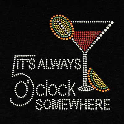 True Fabrications 5 O'Clock Somewhere Rhinestone T-Shirt