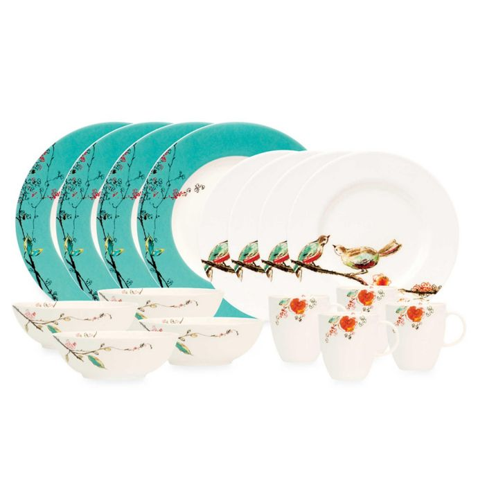 Simply Fine Lenox Chirp 16-Piece Dinnerware Set