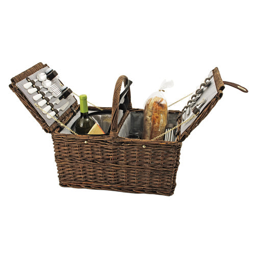 True Fabrications Picnic Basket for 4
