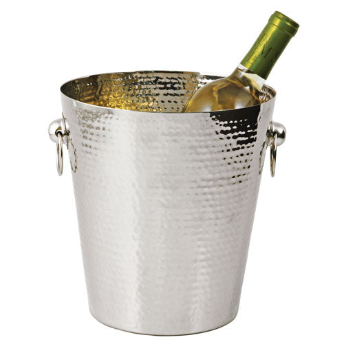 True Fabrications Hammered Metal Ice Bucket