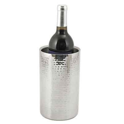 True Fabrications Hammered Metal Bottle Cooler