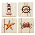 True Fabrications Seaside Wine Coasters