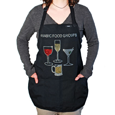 True Fabrications Four Basic Food Groups Apron
