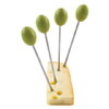 True Fabrications Caspian Olive - Appetizer Picks
