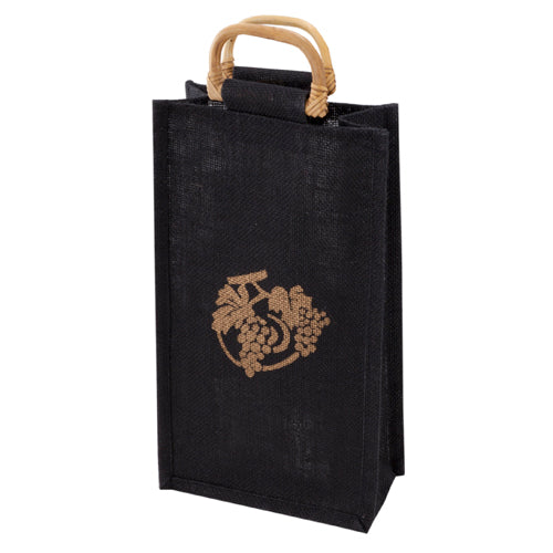 True Fabrications Midnight-2-Bottle Wine Tote