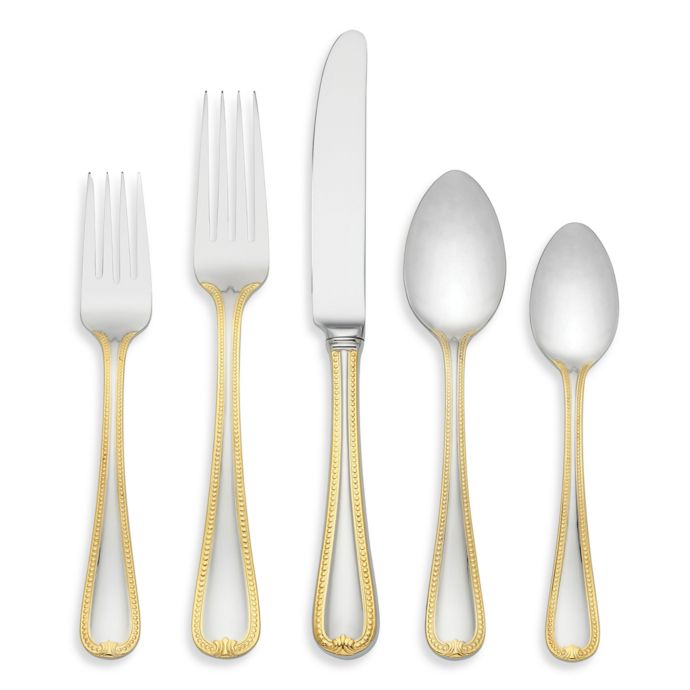 Lenox Vintage Jewel Gold 5-Piece Flatware Place Setting