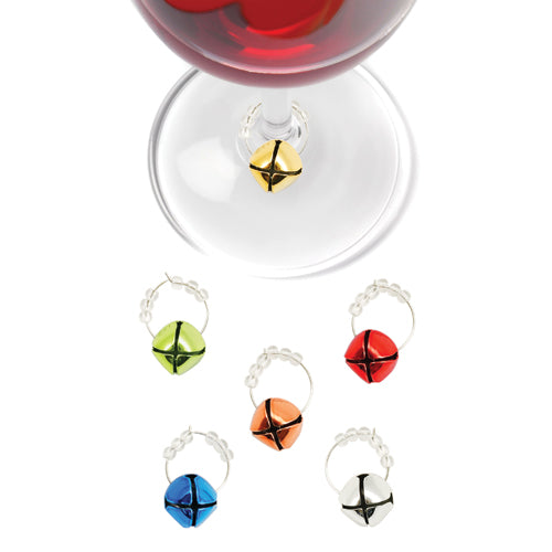 True Fabrications Jingle Bell Wine Charms