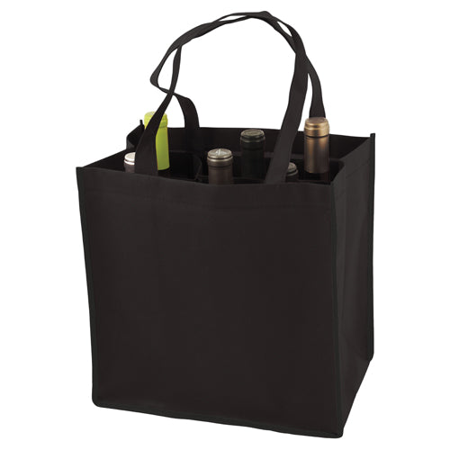 True Fabrications 6-Bottle Non-Woven Tote