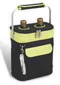 Picnic at Ascot Two Bottle Tote - Black