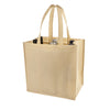 True Fabrications 6-Bottle Beige Non-Woven Tote