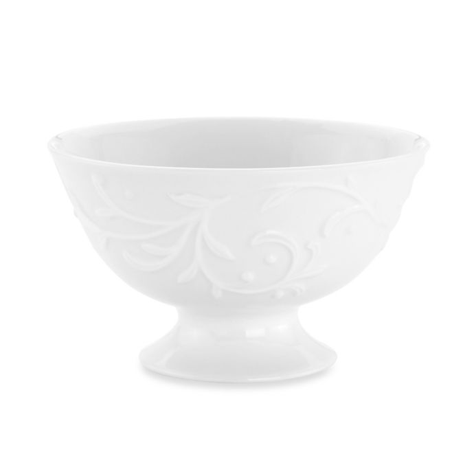 Lenox Opal Innocence Carved Footed Dessert Bowl