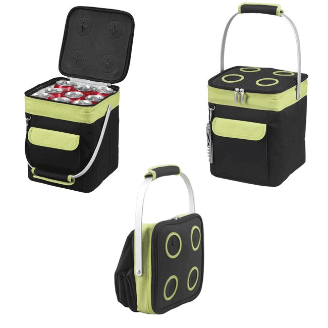 Picnic at Ascot 4-Bottle Collapsible Multi-purpose Cooler - Apple