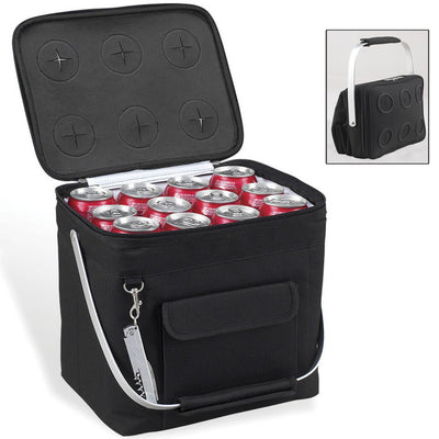 Picnic at Ascot 6-Bottle Collapsible Multi-purpose Cooler - Black