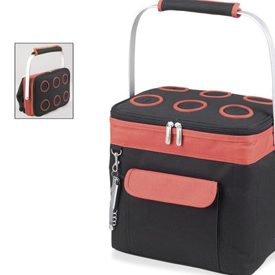 Picnic at Ascot 6-Bottle Collapsible Multi-purpose Cooler - Orange