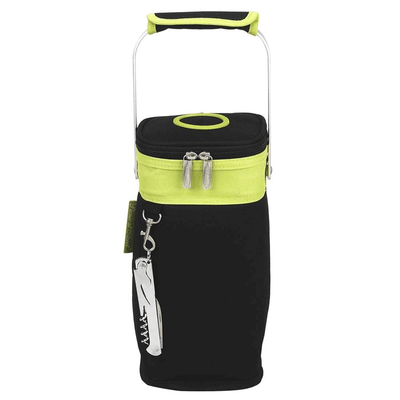 Picnic at Ascot Single Bottle Tote - Apple