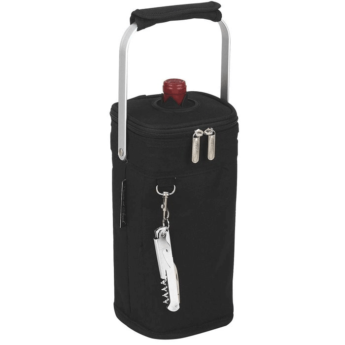 Picnic at Ascot Single Bottle Tote - Black