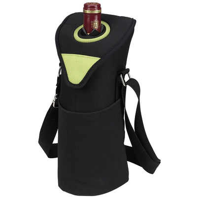 Picnic at Ascot Neoprene Single Bottle Tote - Apple