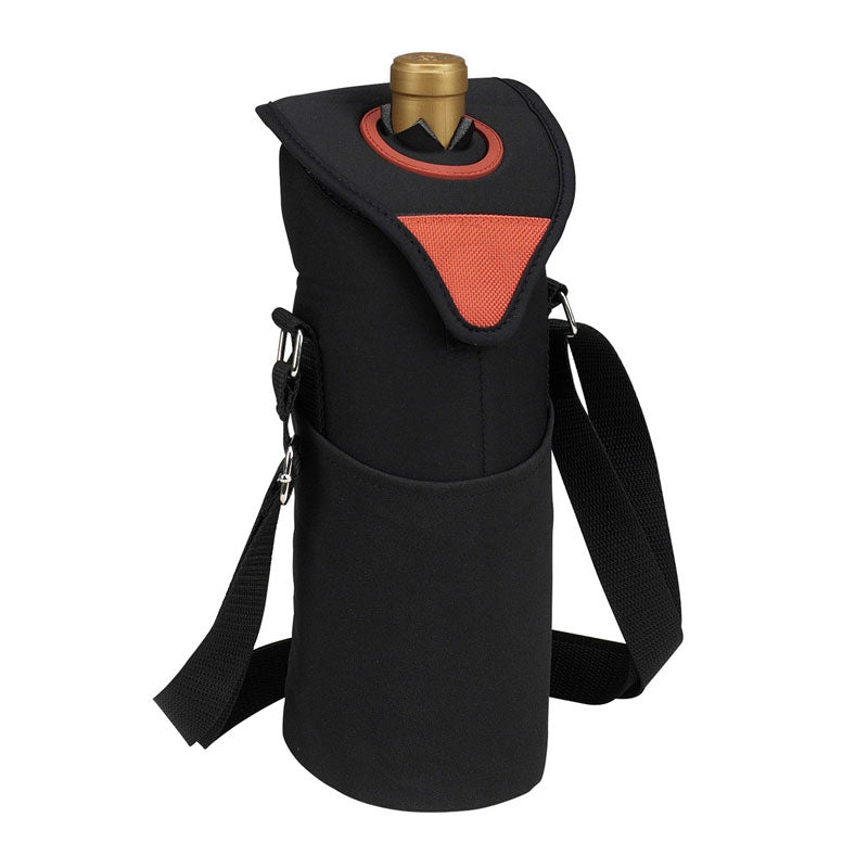 Picnic at Ascot Neoprene Single Bottle Tote - Orange