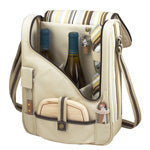 Picnic at Ascot Two Bottle Wine & Cheese Cooler w/ Glasses
