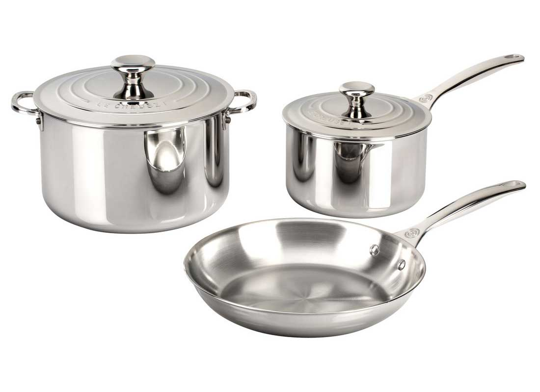 Le Creuset 5 Piece Stainless Steel Cookware Set