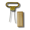 Ahh Super Two-Prong Cork Extractor Brass - Birch