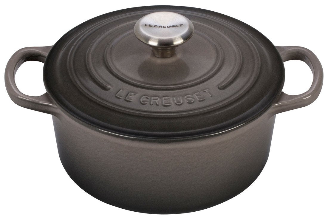 Le Creuset Signature 2 Quart Round Enameled Cast Iron Dutch Oven - Oyster
