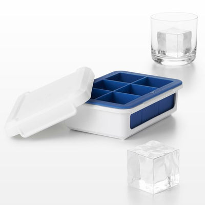 OXO Good Grips Covered Large Cube Silicone Ice Cube Tray