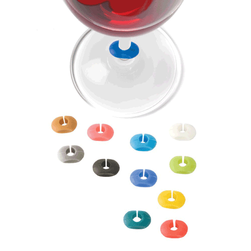 True Fabrications Assorted Colorful Silicone Wine Charms