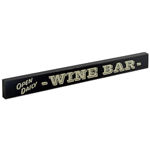 Wine Bar- Open Daily Large Wood Block Sign