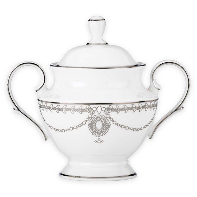 Marchesa by Lenox Empire Pearl Covered Sugar Bowl