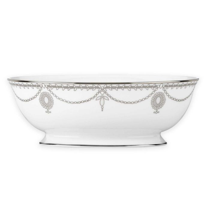 Marchesa by Lenox Empire Pearl Oval Vegetable Bowl