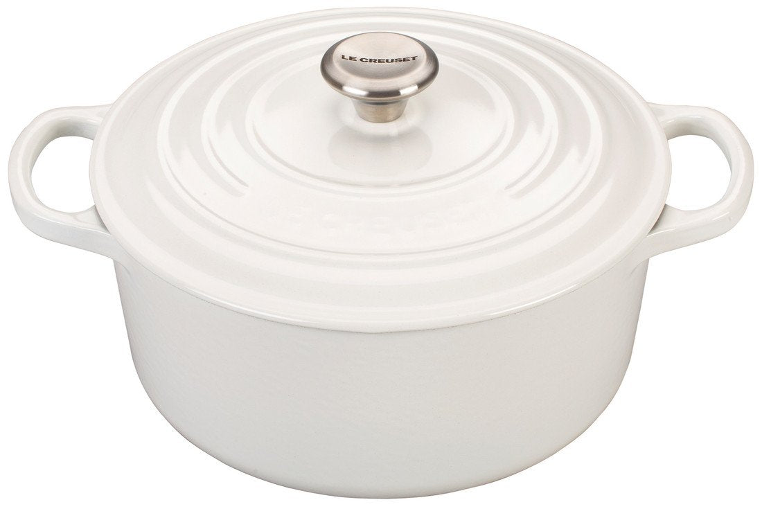 Le Creuset Signature 9 Quart Round Enameled Cast Iron Dutch Oven - White