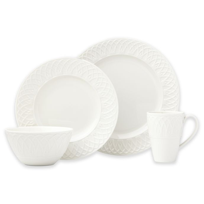 Lenox British Colonial Carved 4-Piece Place Setting in White