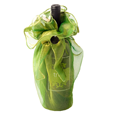 True Fabrications Sheer Gala Green Wine Bag