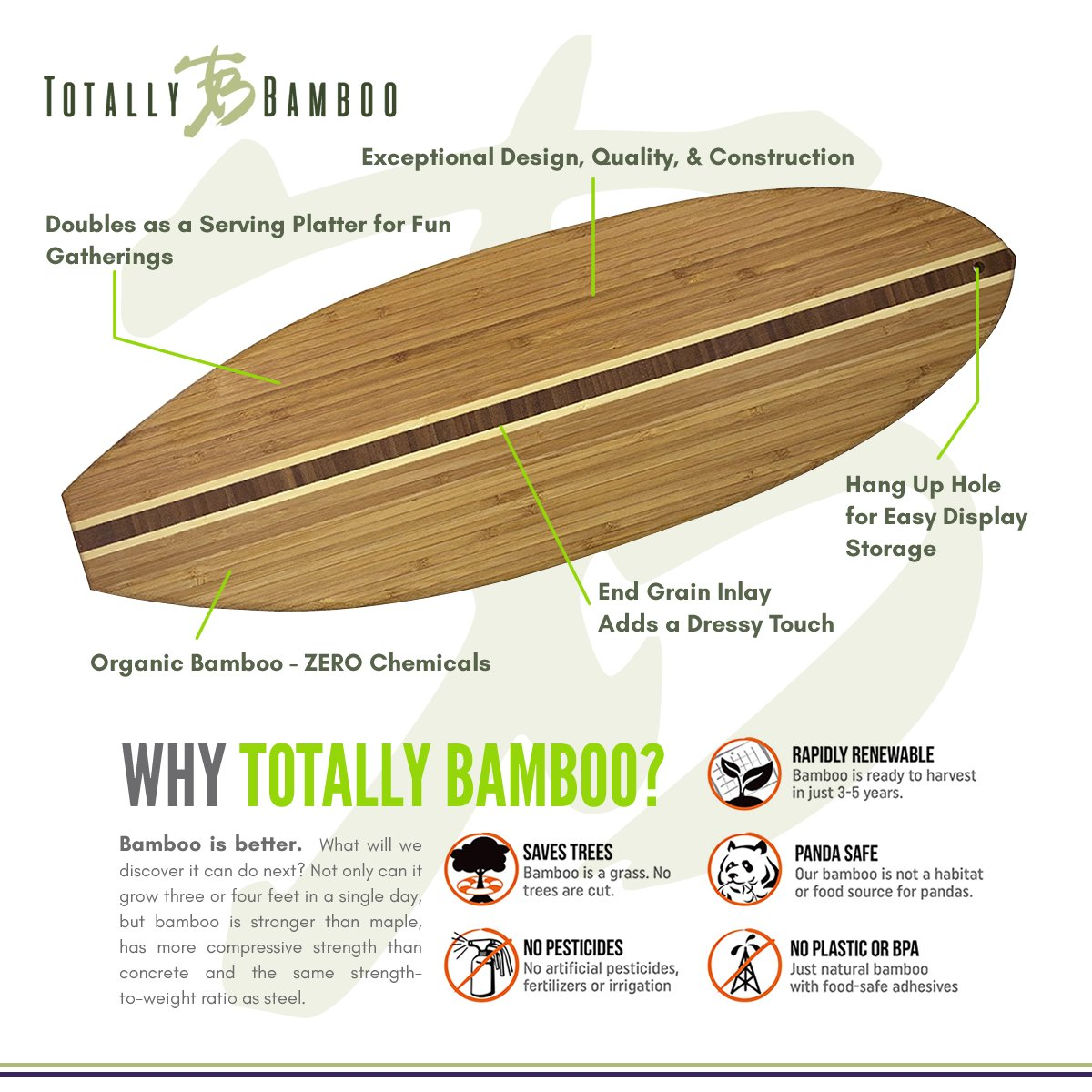 Totally Bamboo Surfboard