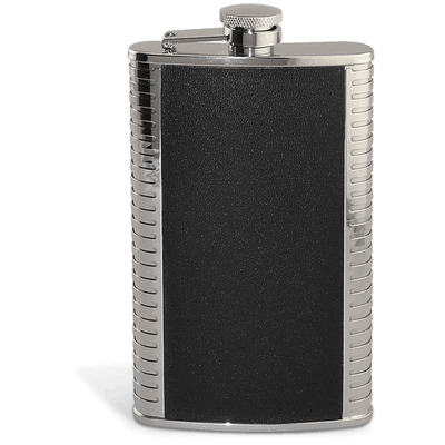 Epic Silver and Black Flask- 9 oz.