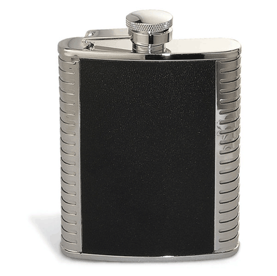 Epic Silver and Black Flask- 6 oz.