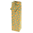 True Fabrications Yellow Bubbles Wine Bag