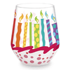 Birthday Stemless Painted Wine Glass