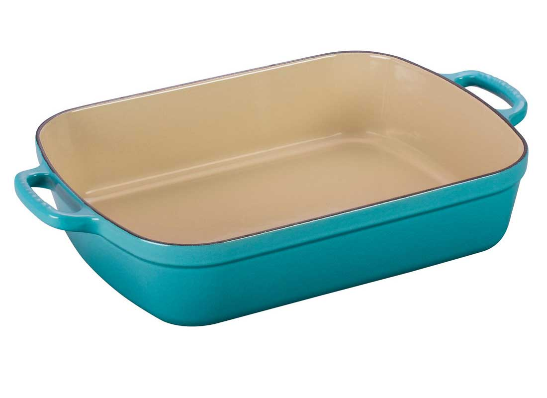 Le Creuset 5.25 Quart Enameled Cast Iron Signature Rectangular Roaster