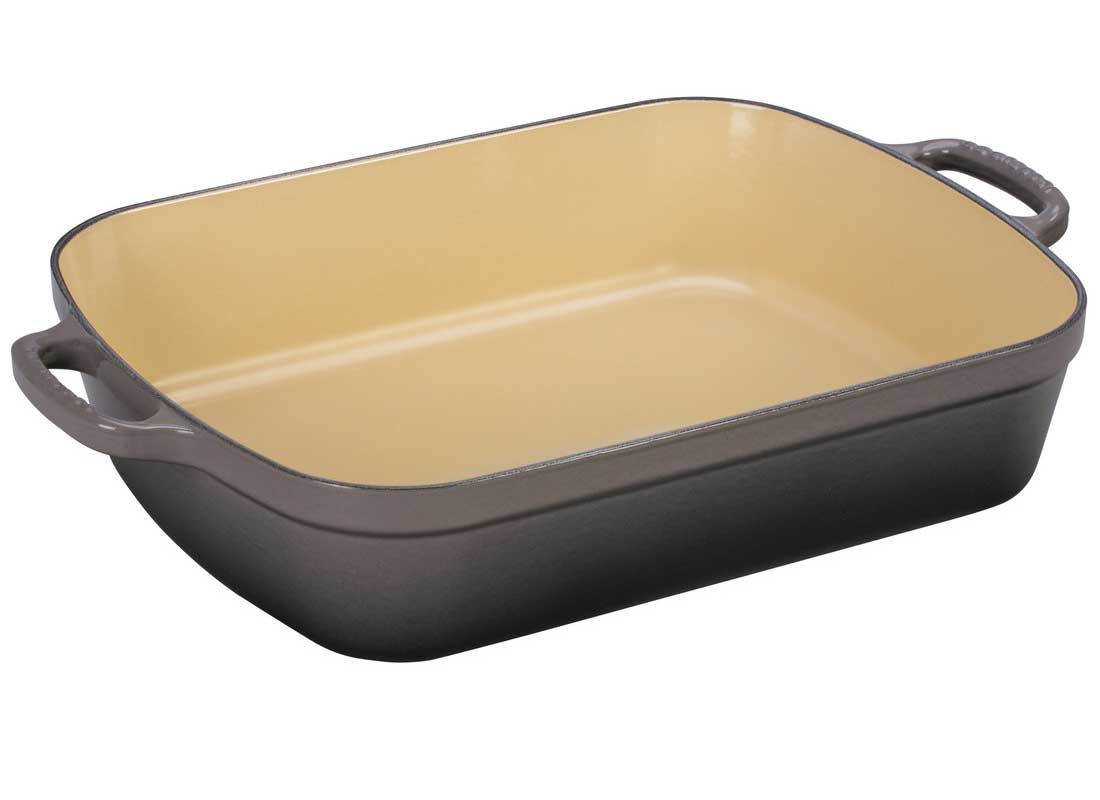 Le Creuset 5.25 Quart Enameled Cast Iron Signature Rectangular Roaster - Oyster