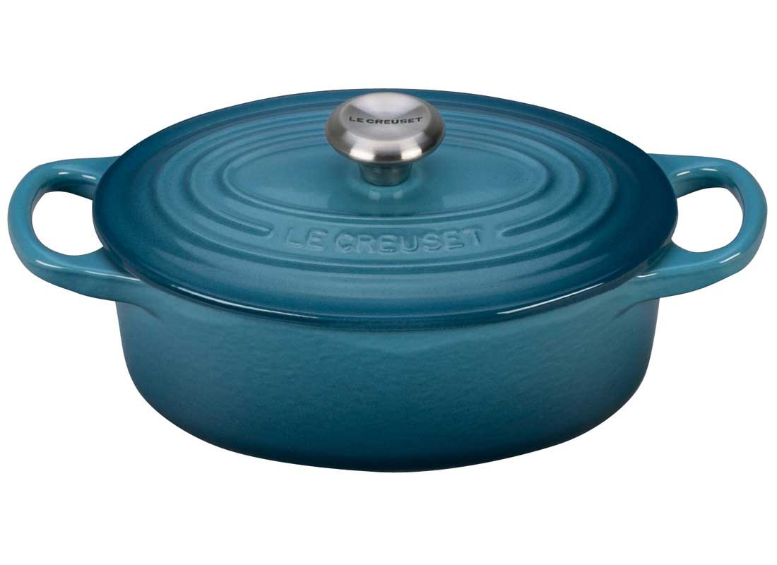 Le Creuset Signature 5 Quart Oval Enameled Cast Iron Dutch Oven