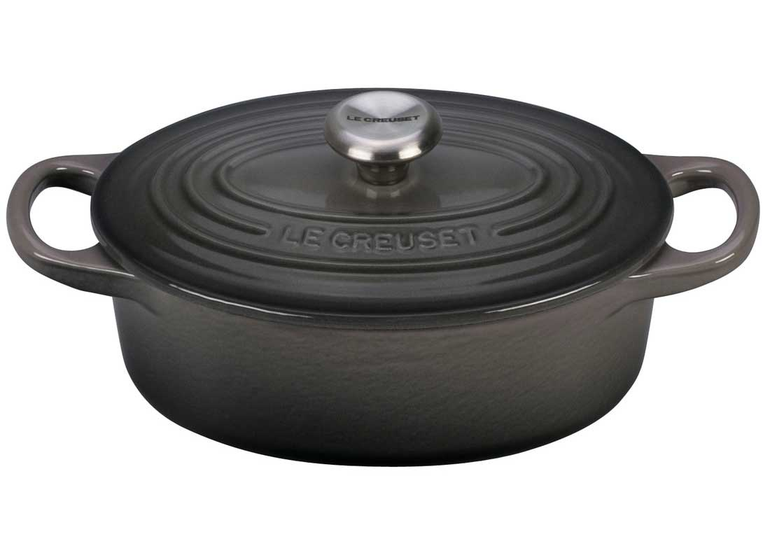 Le Creuset Signature 5 Quart Oval Enameled Cast Iron Dutch Oven - Oyster