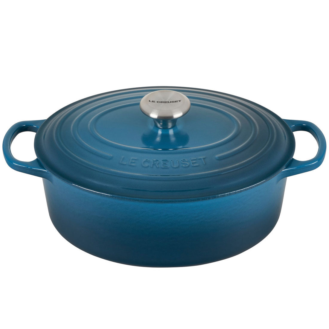 Le Creuset Signature 5 Quart Oval Enameled Cast Iron Dutch Oven - Deep Teal