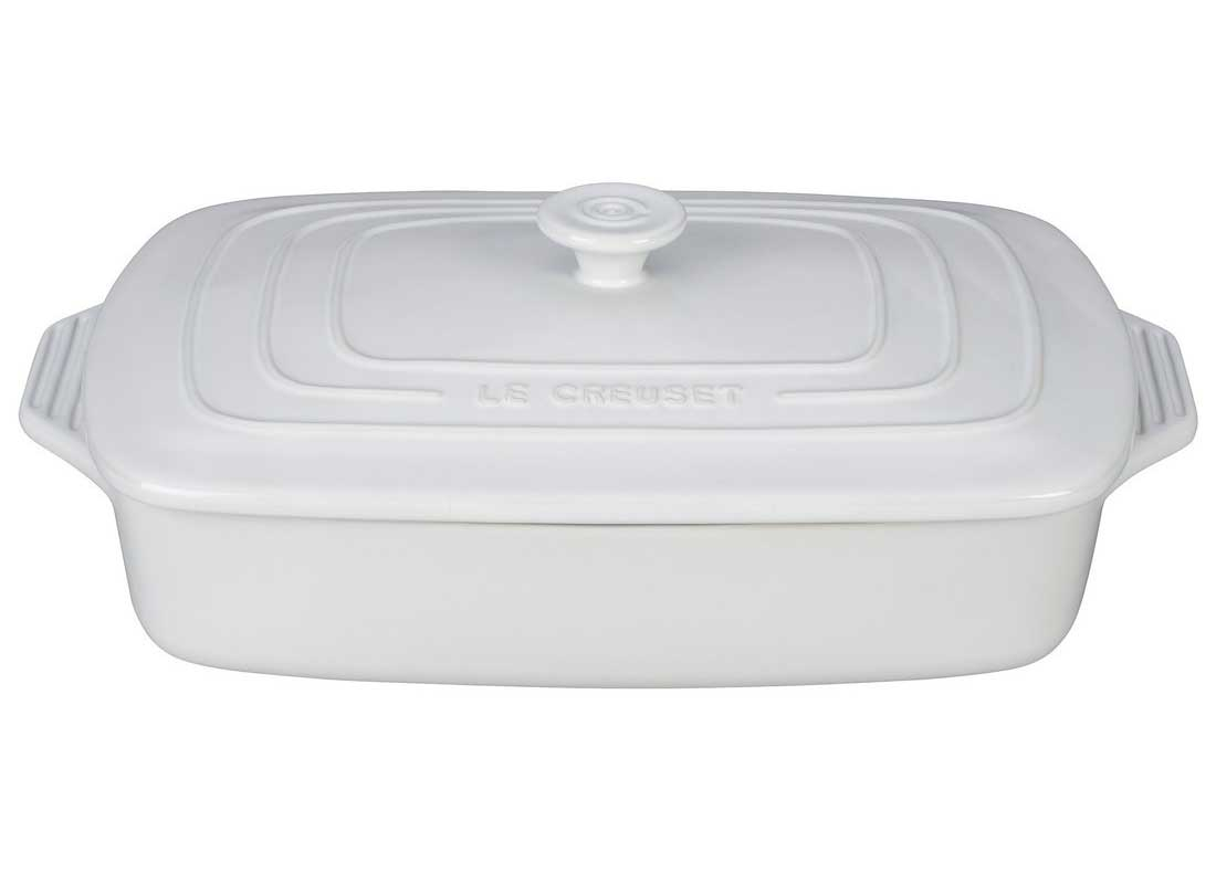 Le Creuset 3.5 Quart Covered Rectangular Stoneware Casserole